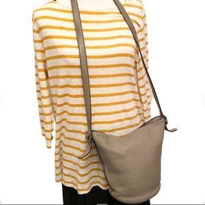 COACH Small Bucket Leather Crossbody Handbag Purse